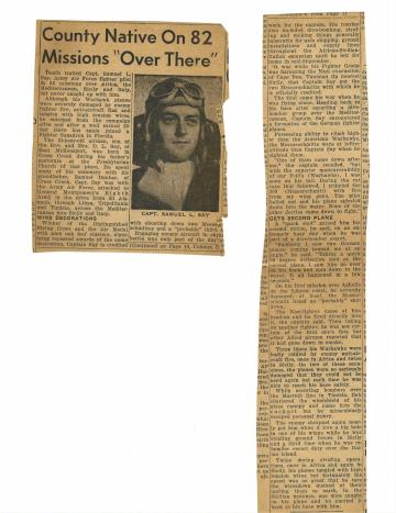 85th-FS-pilot-Capt.-Samuel-Say-newspaper-article.-Samuel-L.-Say-collection-via-family
