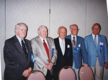 79th-FG-reunion-L-R-Robert-Kelley-William-Abbott-Tom-Anderson-Unknown-Unknown.-Robert-Kelley-collection-via-Pat-Kelley