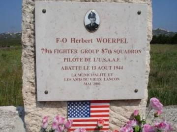 87th-FS-Herbert-Woerpel-memorial-at-Lancon-Provence-France.