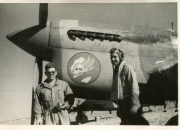 85th-FS-Charles-Bolack-on-right-and-ground-crew-beside-a-P-40-named-Shirl-2nd.-Jacob-Schoellkopf-collection-via-Ian-Lyn
