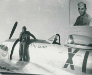 85th-FS-Conrad-Odle-and-his-P-47-named-Joy-IInd.-Conrad-Odle-collection-via-Tom-Odle