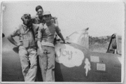 85th-FS-Conrad-Odle-with-Flight-Chief-Edward-Campbell-and-armorer-Orion-Jones-on-his-P-47-named-Joy.-Conrad-Odle-collection-via-Tom-Odle