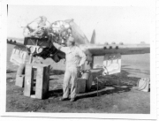 85th-FS-Flight-Chief-Montie-Whittenberg-disassembling-P-40-for-inspection-of-fire-damage.-Montie-Whittenberg-collection-via-Ron-Whittenberg