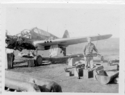 85th-FS-Flight-Chief-Montie-Whittenberg-disassembling-P-40-for-inspection-of-fire-damage2.-Montie-Whittenberg-collection-via-Ron-Whittenberg