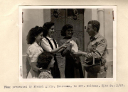 85th-FS-Nathan-Goldman-Orderly-with-French-girls.-AFHRA-photograph