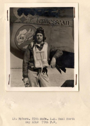 85th-FS-William-Ryburn-by-his-P-40-named-The-Tennessean.-AFHRA-photograph