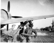 85th-FS-armorer-James-Sorenson-left-and-Flight-Chief-Montie-Whittenberg-loading-P-47-with-bazooka-tubes.-Montie-Whittenberg-collection-via-Ron-Whittenberg