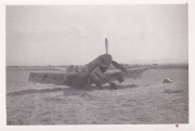 85th-FS-at-Catania-Airfield-Sicily-wrecked-Bf-109.-Robert-Kelley-collection-via-Peter-Kelley