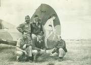 85th-FS-bottom-L-R-Howard-Ryburn-Pace-top-L-R-White-9th-USAAF-Cox-pilot-of-P-40-with-Miss-Memphis.-Jacob-Schoellkopf-collection-via-Ian-Lyn