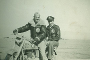85th-FS-pilots-John-Cimaglia-in-back-on-squadron-motorcycle.-Jacob-Schoellkopf-collection-via-Ian-Lyn