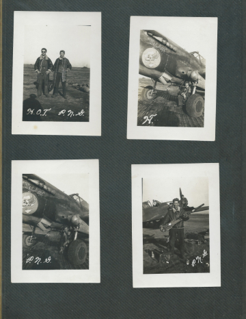 85th-FS-Henry-Tomlin-collection-with-Paul-N.-Gunderson-and-P-40F-My-Ann