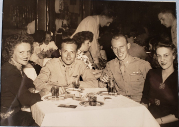 85th-FS-pilot-Samuel-Say-and-wife-Betty-Jane-couple-on-left-possibly-in-Miami-after-tour-with-79th.-Samuel-L.-Say-collection-via-family