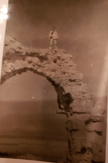 85th-FS-pilot-Samuel-Say-on-top-of-aqueduct-in-Tunisia.-Samuel-L.-Say-collection-via-family