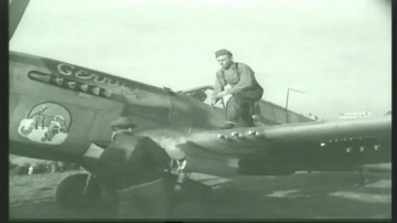 86th-FS-Robert-Skotnickys-P-40-Named-Gerry-at-Capodichino-Naples-Italy-January-1944.-Still-from-USAAF-film