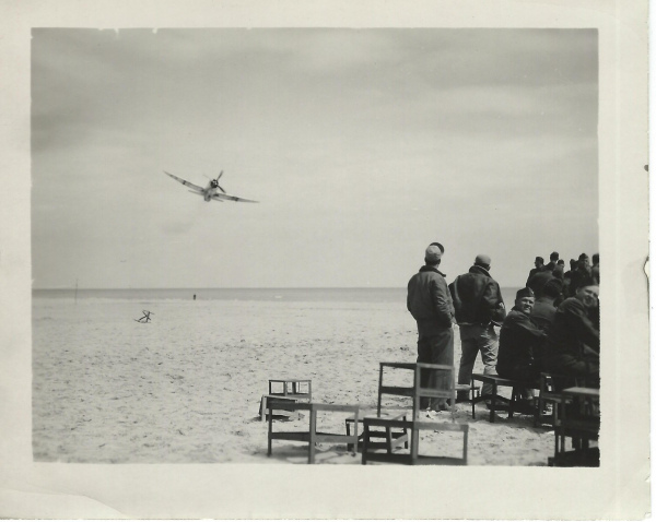 87th-FS-Philip-Bagian-buzzes-the-beach-at-Cesenatico-Italy-on-4-May-1945.-Philip-Bagian-collection-via-Jim-Bagian