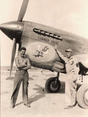 87th-FS-Rocco-Loscalzo-left-and-Bill-Gardner-by-P-40-named-CANNED-HEAT-Castel-Benito-Tripoli-March-1943.-Rocco-Loscalzo-collection-via-Frank-Loscalzo9