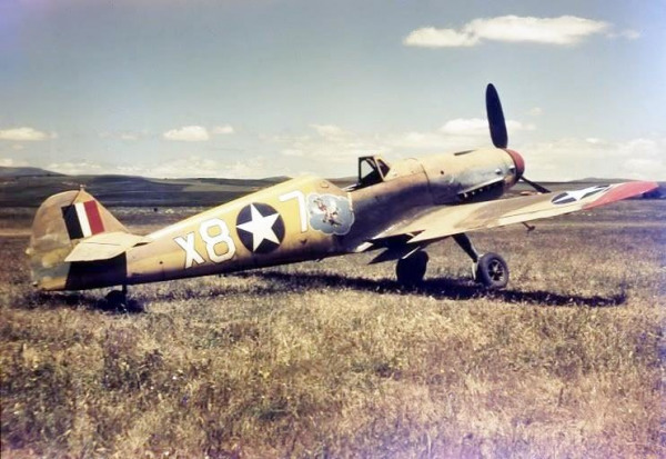 87th-FS-captured-Bf-109.-Jack-Cook-collection