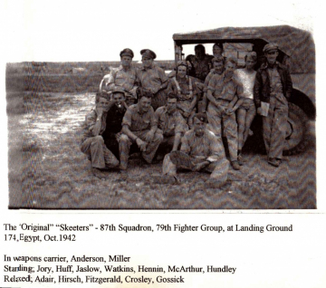 87th-FS-pilots-at-LG174-Egypt-Oct.-1942.-Bruce-Lowell-photograph