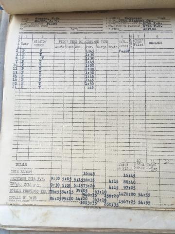 87th-FS-Charles-Grogan-flight-log-November-1942-via-Steve-Grogan