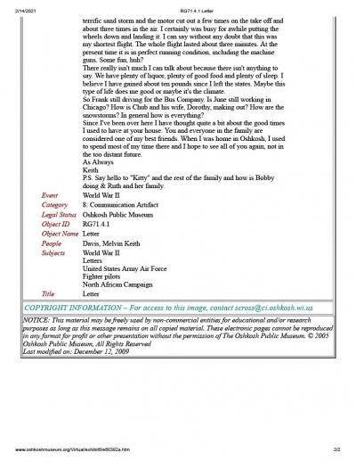 85th-FS-pilot-Lt.-Melvin-Keith-Davis-Oshkosh-Public-Museum-Letter-page-2-1